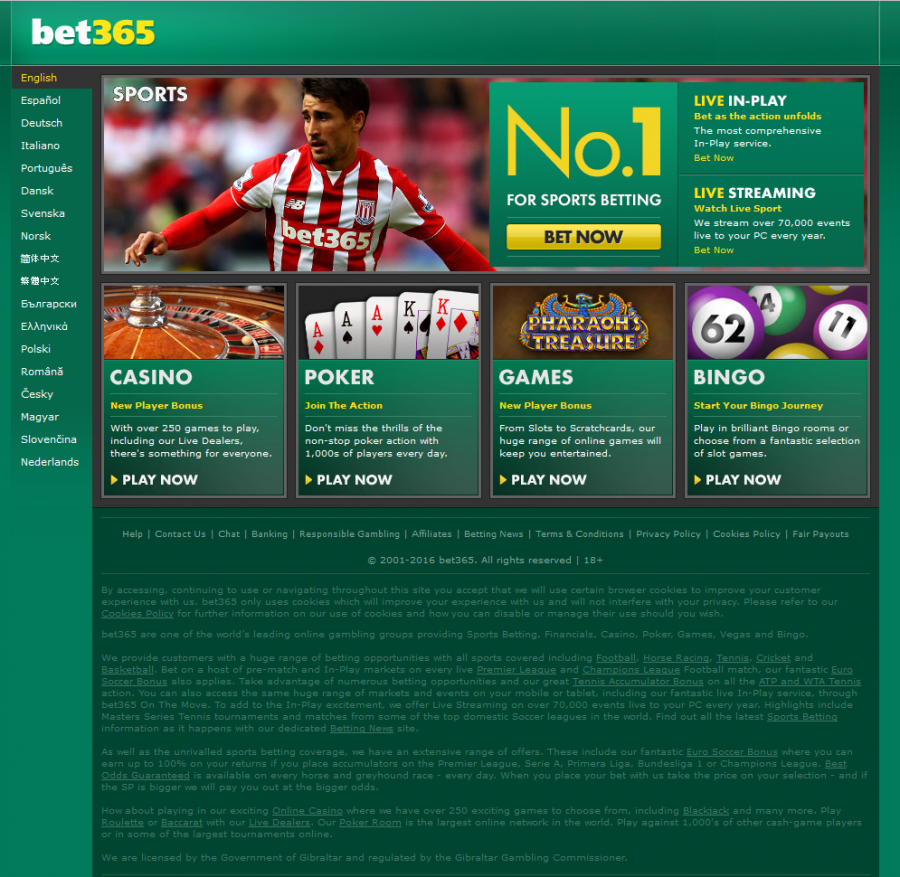 betting poker sports bet365 games casino